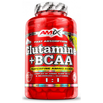 GLUTAMINE + BCAA 360CAPS