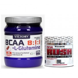 PACK TOTAL RUSH + BCAA 8:1:1