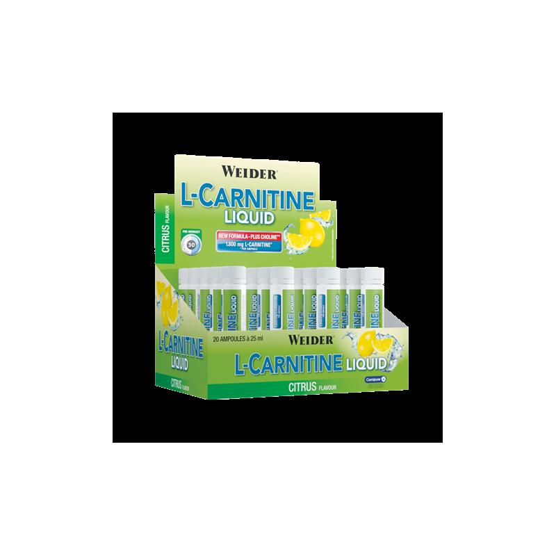 L-CARNITINE LIQUID AMPOLLAS 1800MG